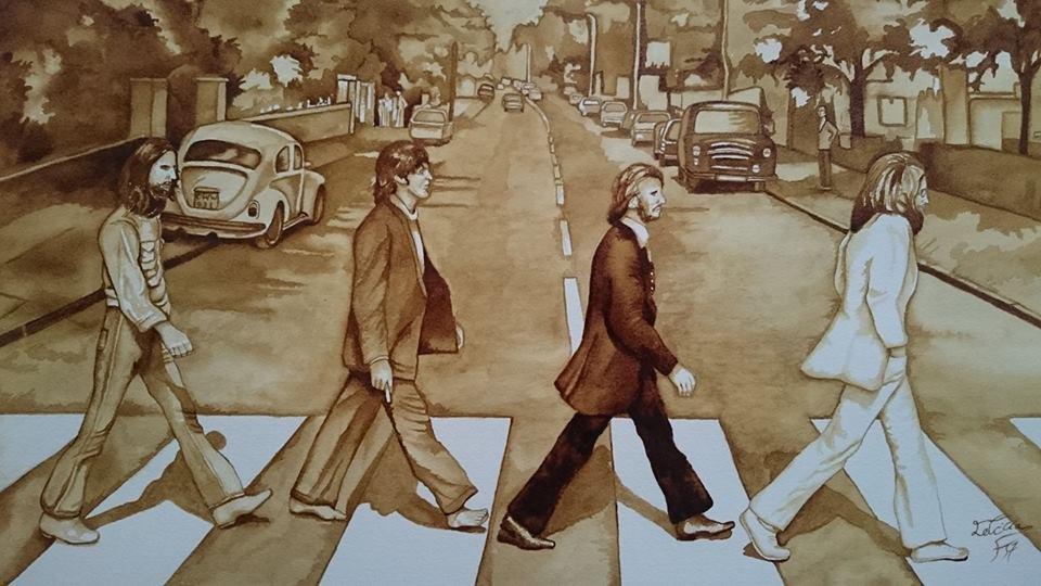 Título: The Beatles Autora: letifigueroaart(instagram) Leticia Figueroa Artista Plástica( Facebook)