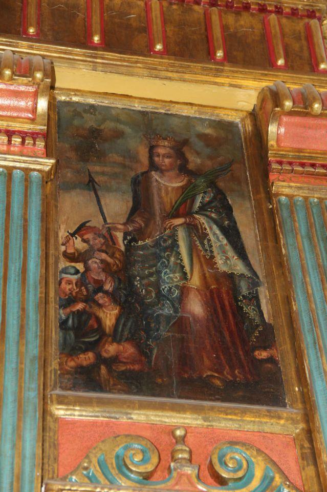 Cuadro del martirio de Santa Úrsula
